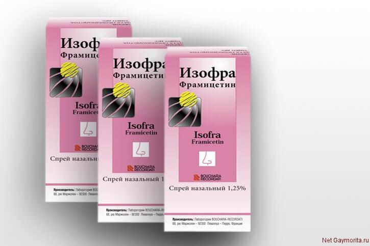 препарат для лечения гайморита и синусита Изофра