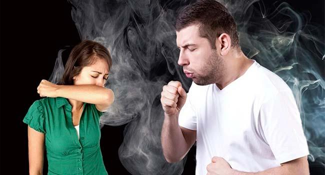 при курении кашель