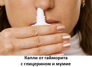 Мумие с глицерином
