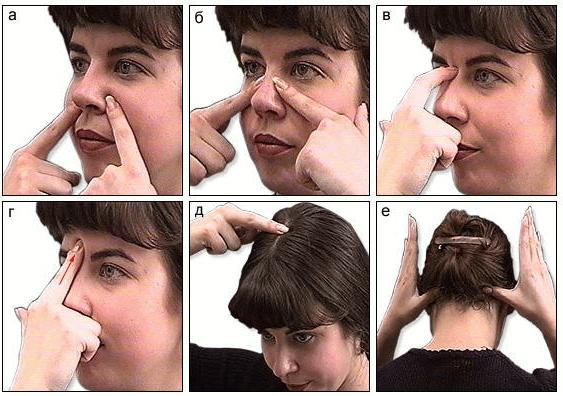 как делать массаж при гайморите