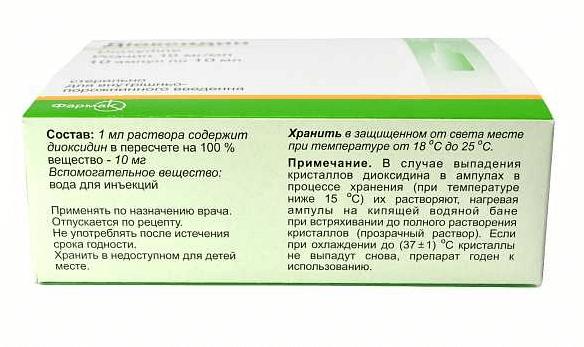 Диоксидин инструкция