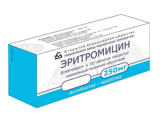 Эритромицин при ангине