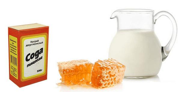 Полоскание горла содой медом и молоком