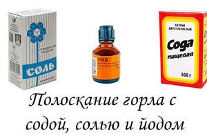 Рецепт полоскания содой солью йодом