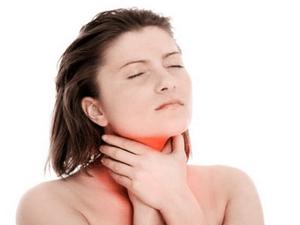 першение в горле при ангине